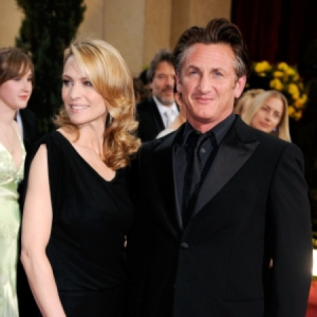 Sean Penn and Robin Wright Penn at the Governor's Ball after the Oscars on February 22, 2009.