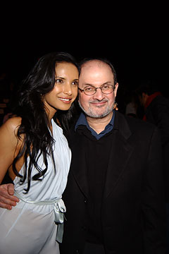 Padma Lakshmi and Salman Rushdie when they were married.